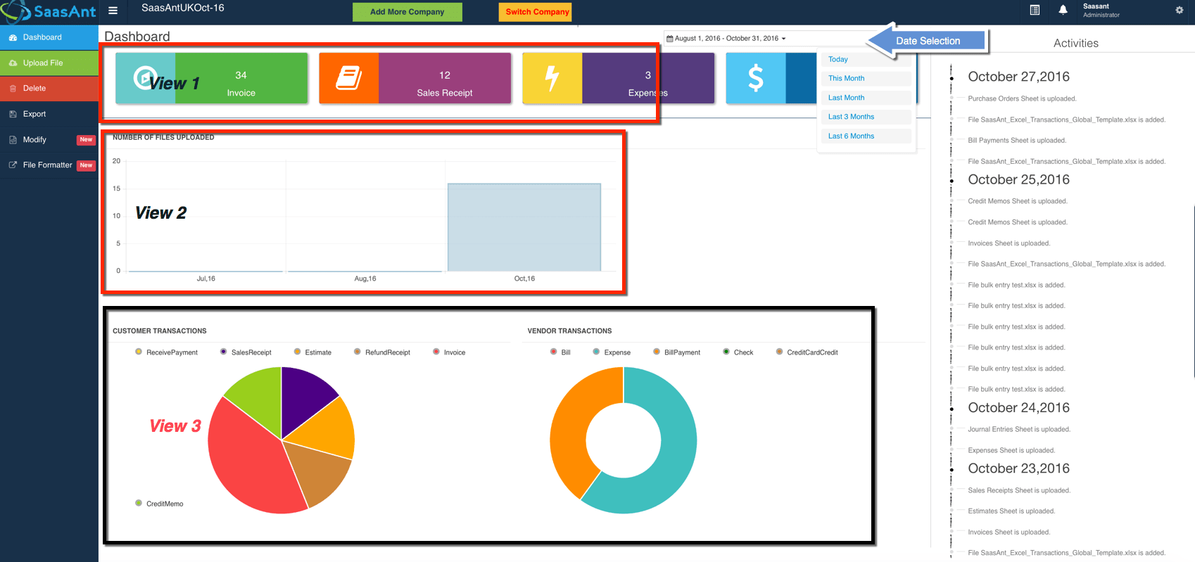 Excel Transactions: Intuitive Dashboard for your Imports