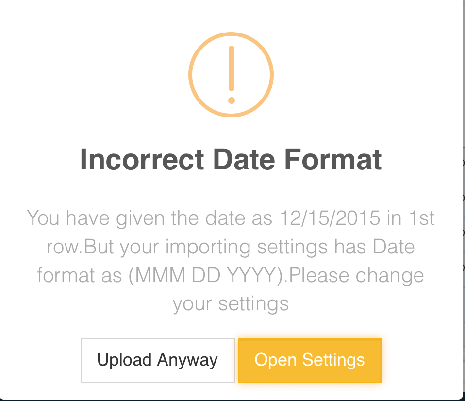 Flexible Date formats supported by Excel Transactions